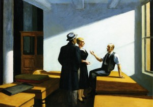conference-at-night by Doctrine fav  Edward Hopper