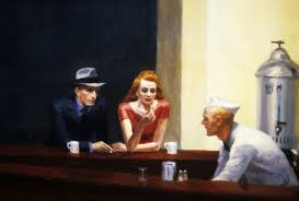 detail from  'Nighthawks'…Edward Hopper, of course