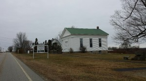 the church just before Hell Hollow Rd