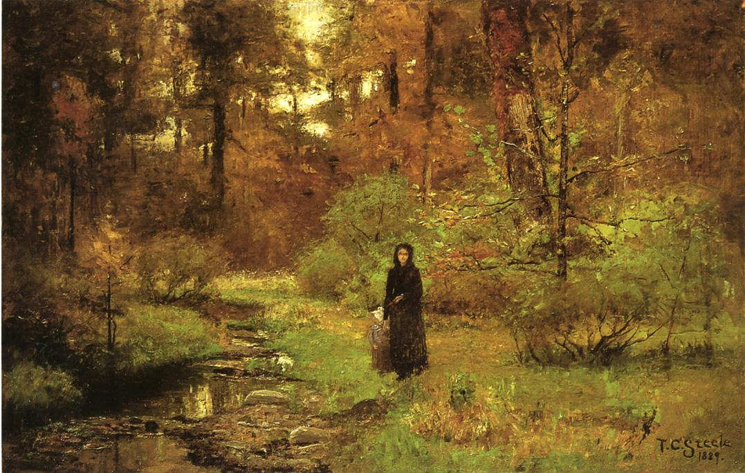 the-brook-in-the-woods-1889